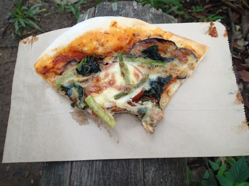 The reason why getting up to go to the bakery on Saturdays is worth it - breakfast pizza!