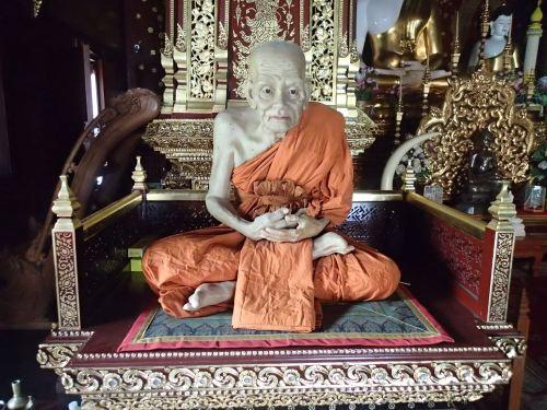 A waxwork monk - freakily realistic