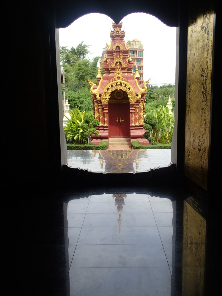 Looking out of the main Padet temple doors