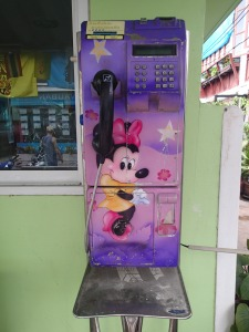 A Minnie Mouse payphone