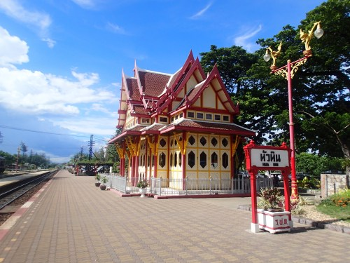 All aboard at the famous Hua Hin train station