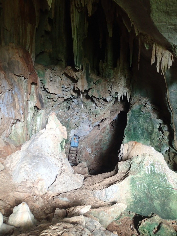 It really looked like someone lived in the depths of this cave