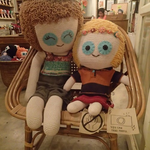 Cute dolls at the market - 'You can take photo'!