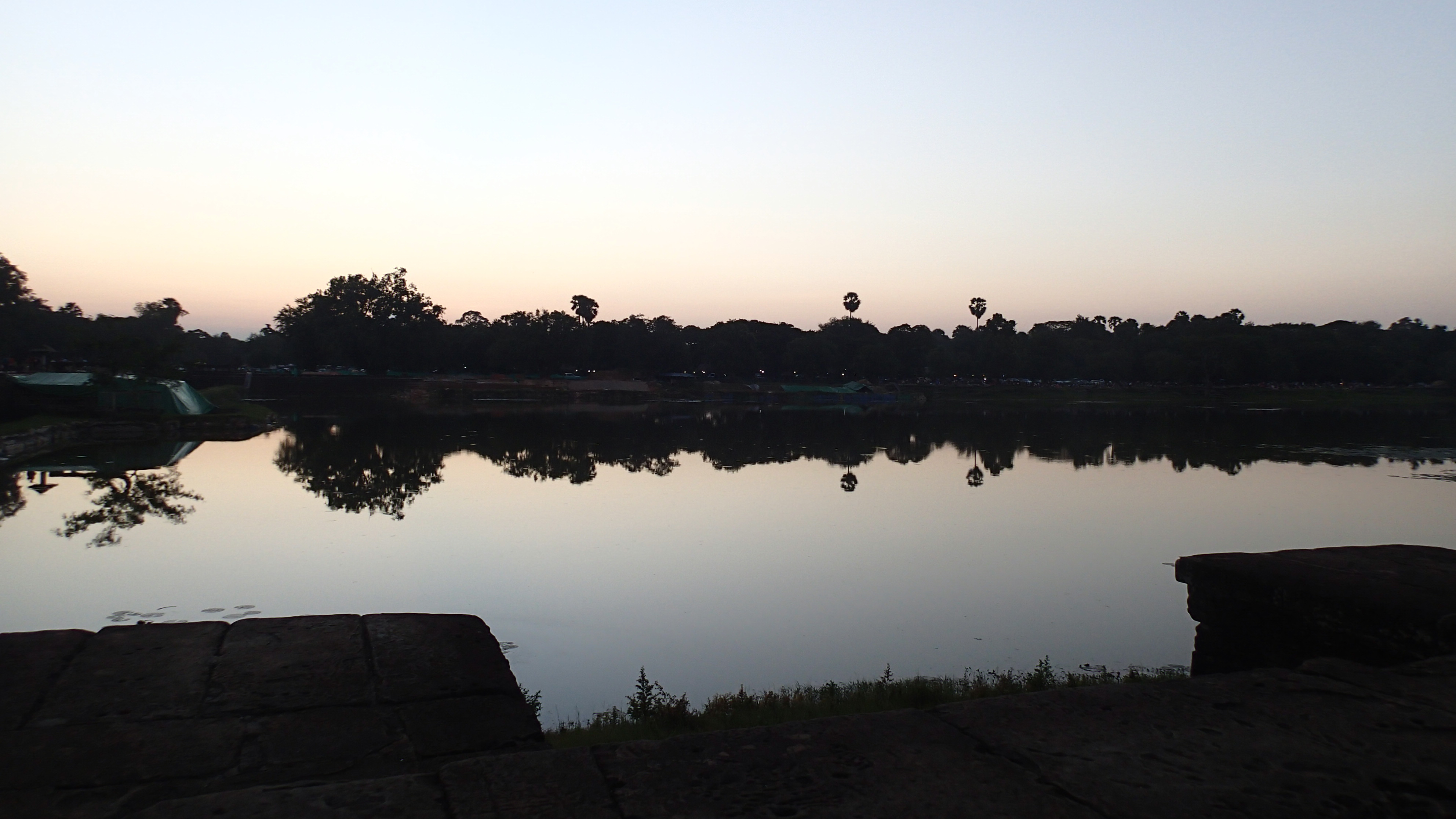 The view from Angkor Wat out across the moat