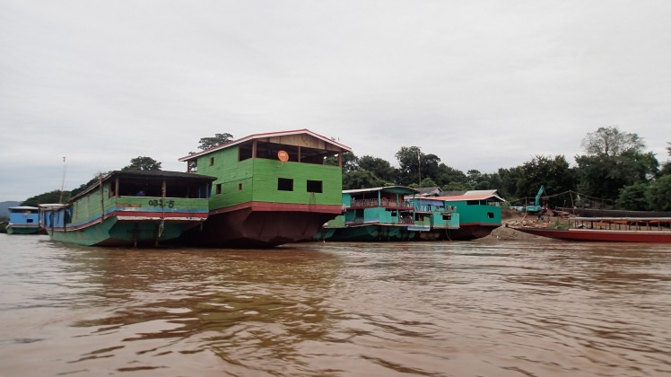 Floating homes on the Mekong