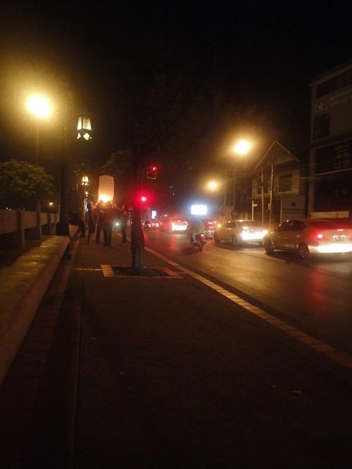 Very quiet on the streets of Chaing Mai once the new year had been welcomed in